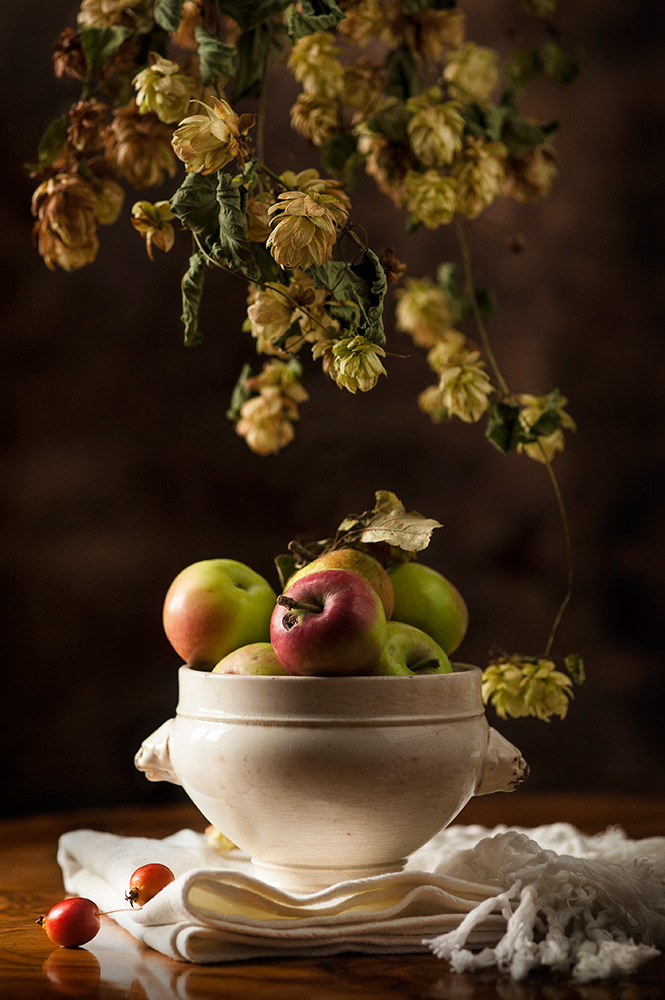 Ancient Apples and Hop flowers